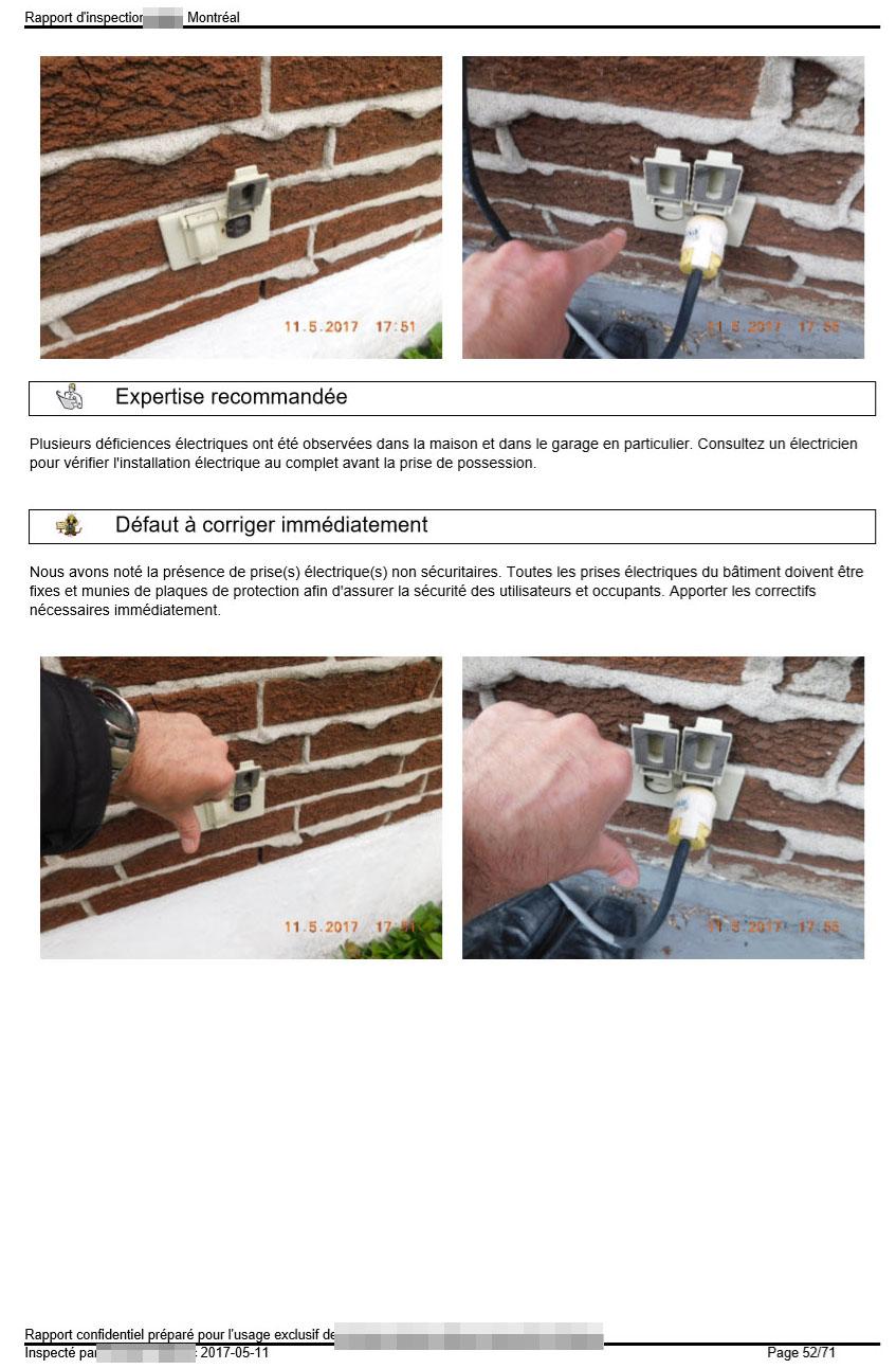 Les prises électriques extérieures doivent être sécuritaires pour les utilisateurs.