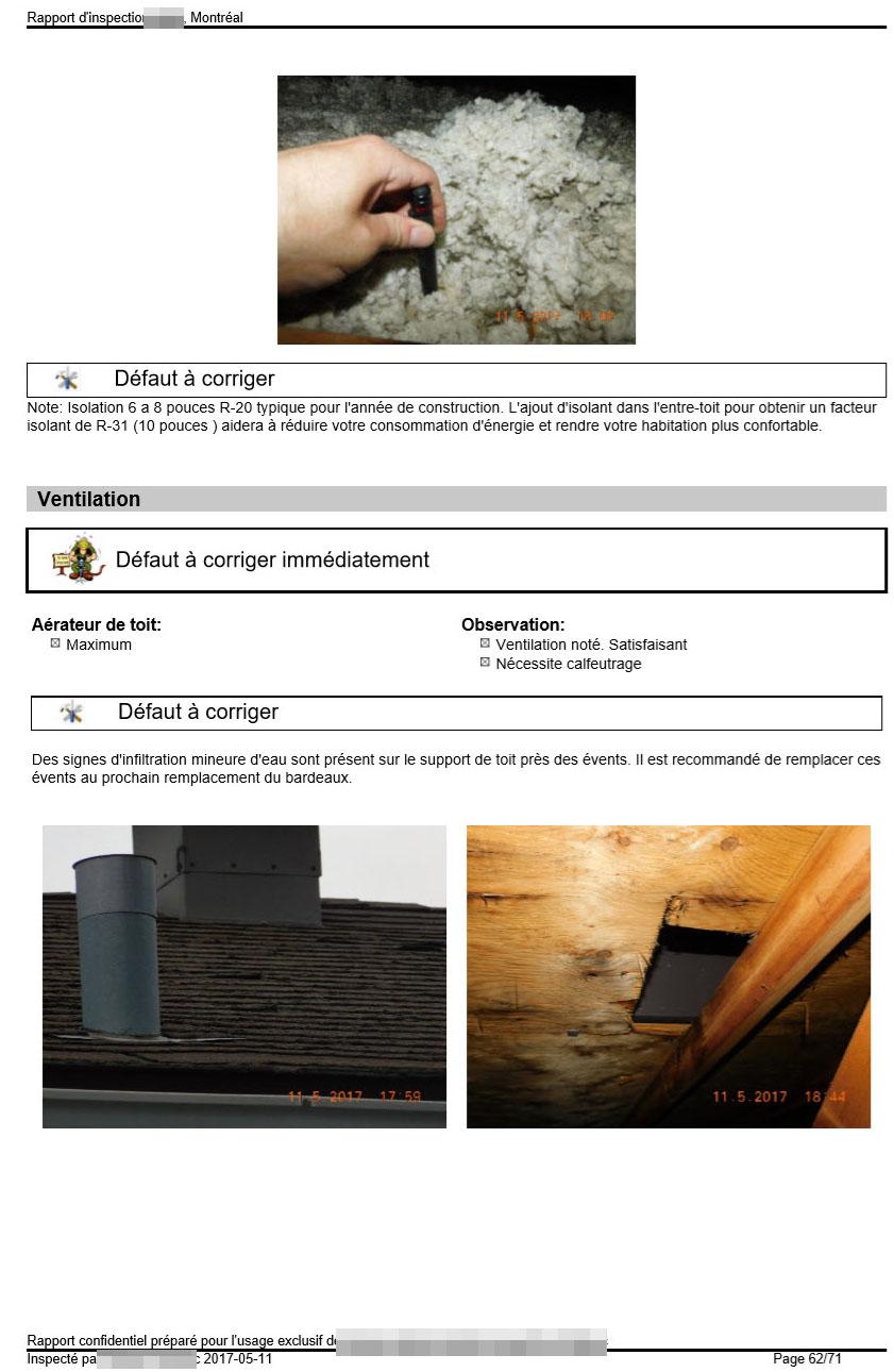 Une ventilation adéquate de l'entretoit évite le vieillissement prématuré des bardeaux