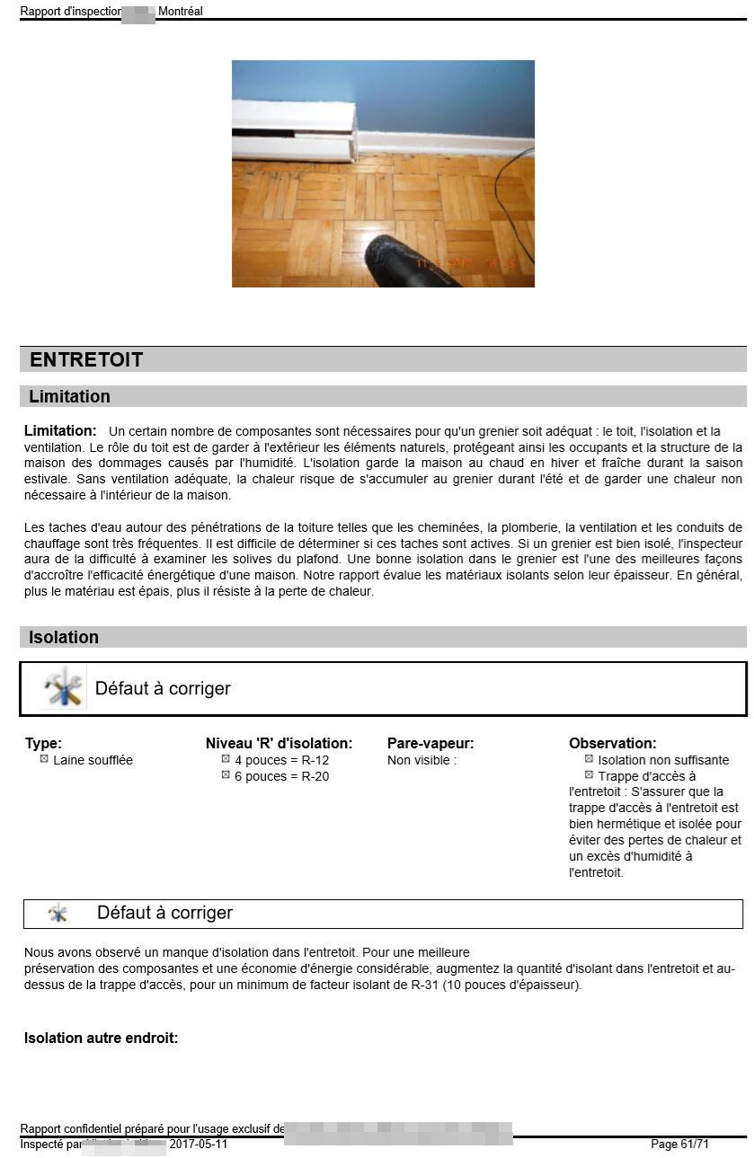 Une isolation efficace de l'entretoit est déterminante pour protéger les éléments constitutifs