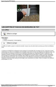 Recommandation de sceller le soffite à l'endroit où passe la cheminée.